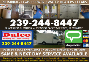 Naples - Cape Coral - Fort Myers Plumbing , Drains, Gas, Slab Leaks, Camer Inspections