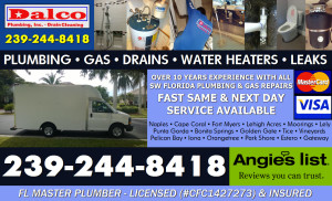 Naples-Fort Myers-Cape Coral Plumbing, Drain Cleaning, Leaks, Water Heaters, Gas Service